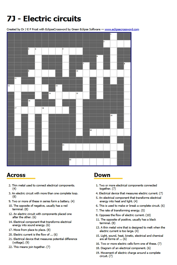NTScience Crossword